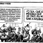 Cartoon in El País