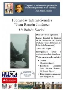 "JORNADAS INTERNACIONALES ""JUAN RAMÓN JIMÉNEZ: MI RUBÉN DARÍO"""