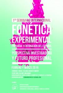 I SEMINARIO INTERNACIONAL – FONÉTICA EXPERIMENTAL, PROSODIA Y ENTONACIÓN DEL ESPAÑOL. PERSPECTIVAS INVESTIGADORAS Y FUTURO PROFESIONAL