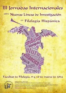 III JORNADAS INTERNACIONALES SOBRE NUEVAS LÍNEAS DE INVESTIGACIÓN EN FILOLOGÍA HISPÁNICA
