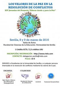 """XIV JORNADAS DEL PROYECTO """"EDUCAR DESDE Y PARA LA PAZ"""""""