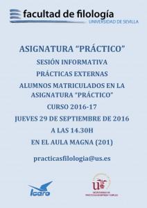 SESIÓN INFORMATIVA PRÁCTICAS EXTERNAS 2016-17