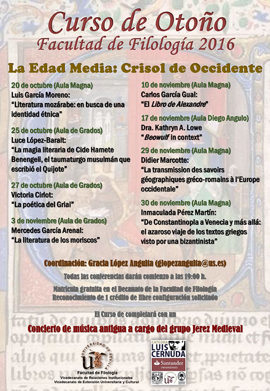 CURSOS DE OTOÑO – LA EDAD MEDIA: CRISOL DE OCCIDENTE