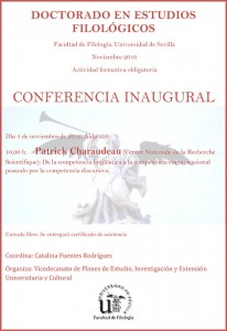 DOCTORADO EN ESTUDIOS FILOLÓGICOS – CONFERENCIA INAUGURAL
