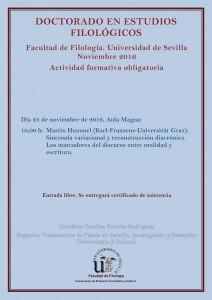 DOCTORADO EN ESTUDIOS FILOLÓGICOS – ACTIVIDAD FORMATIVA OBLIGATORIA